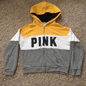 NWOT PINK Victoria's Secret Sherpa Lined Zip Up